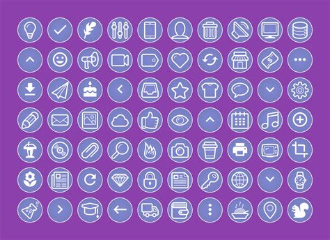 210 Instagram Story Highlights Purple Icons Pack by