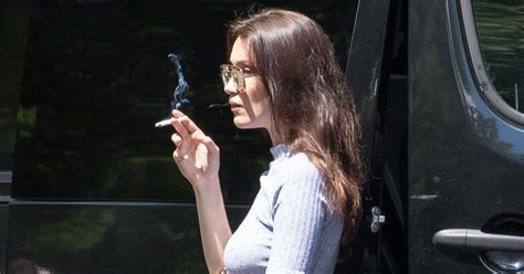 Bella Hadid Smokes a Cigarette, Ponders the Meaning of