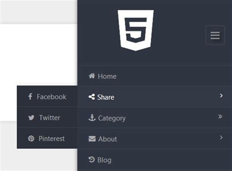 Multi-Level Sliding Sidebar Navigation with jQuery and